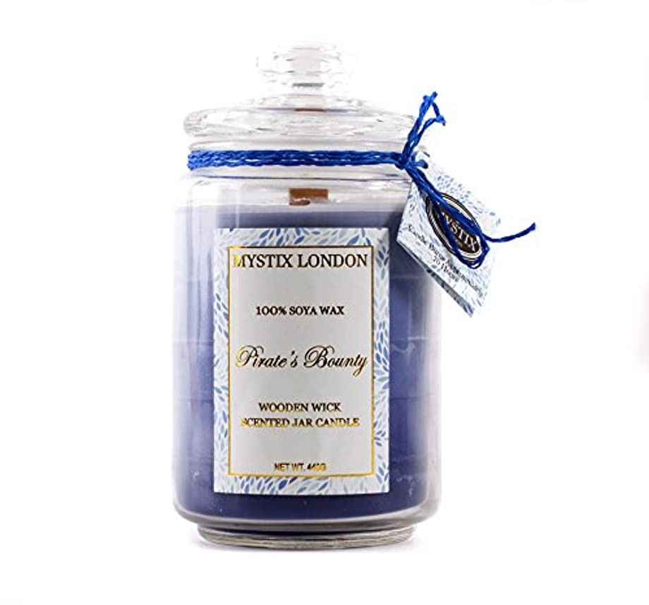 妖精縫い目フクロウMystix London | Pirate's Bounty Wooden Wick Scented Jar Candle 440g