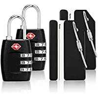 iMucci 4 Pack TSA Approved Customs lock for Travel Luggage Locks PC Body Combination Locks for Travel Bag Suit Case Draw bar box Luggage Suitcase