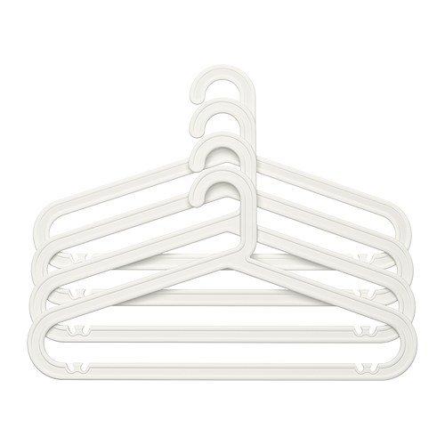 RoomClip商品情報 - プラスチック製ハンガー 雑貨 4p ホワイト[Candy Style アイテムセット] [並行輸入品]