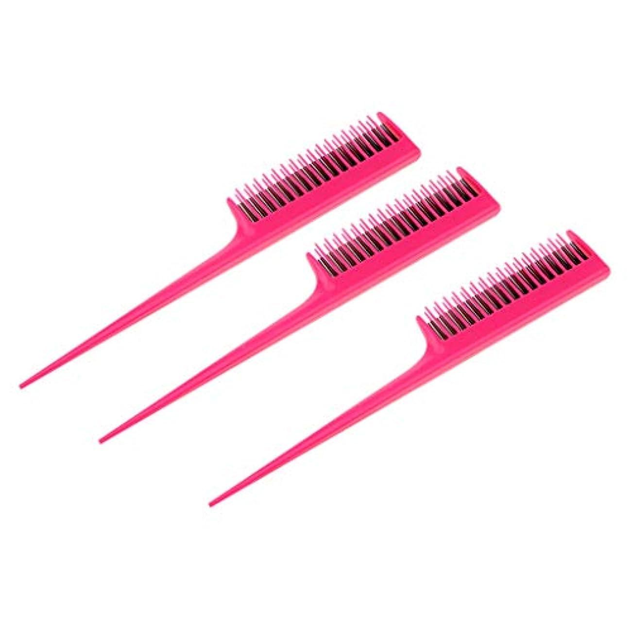 予備寛容再編成するヘアダイコーム 櫛 ヘアコーム ヘアブラシ プラスチック 染毛剤 ツール 3個入り