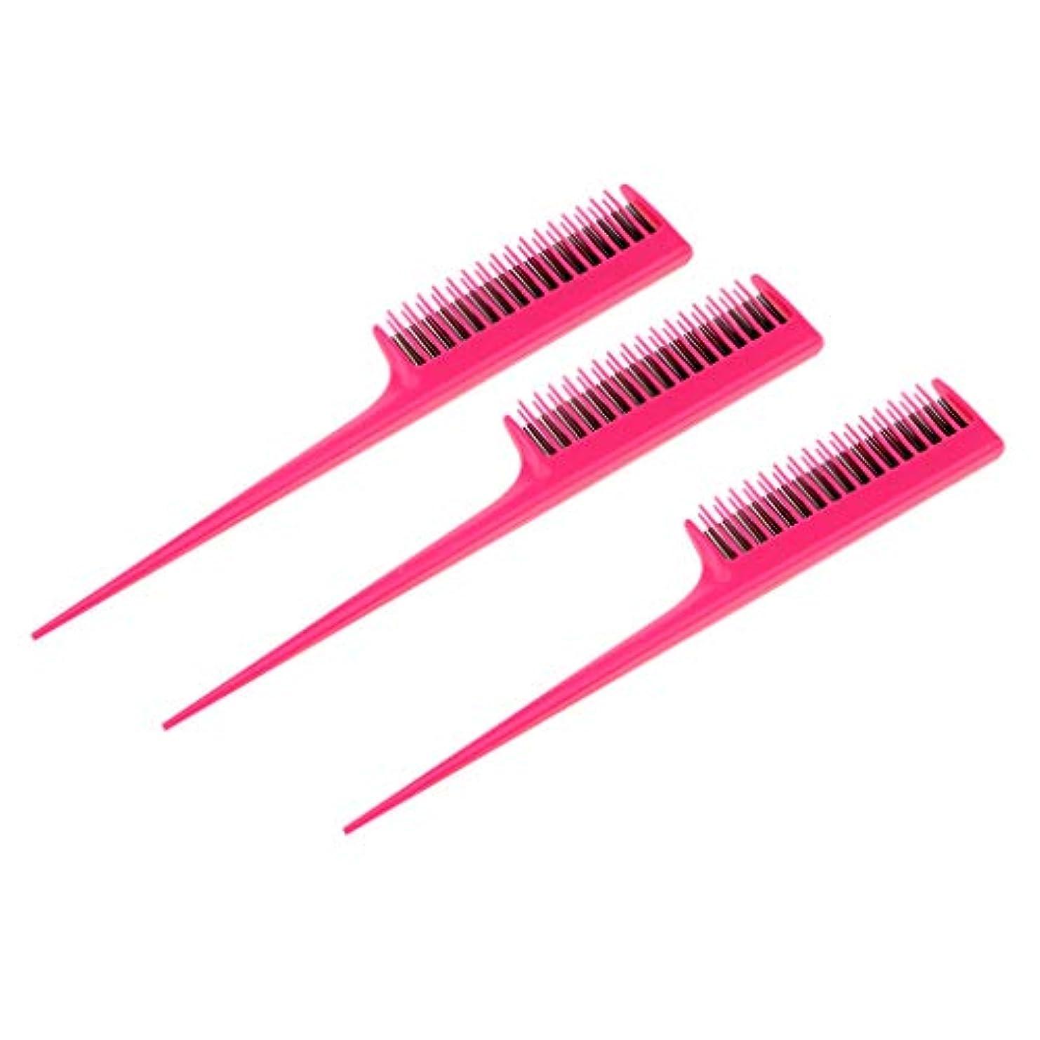 喜劇敵対的つまずくヘアダイコーム 櫛 ヘアコーム ヘアブラシ プラスチック 染毛剤 ツール 3個入り