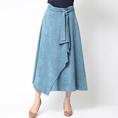 ビアッジョブルー(Viaggio blu) マスカレードスエードドレープスカート