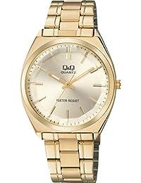 [シチズン キューアンドキュー]CITIZEN Q&Q 腕時計 アナログ クラシック 日常生活防水 ブレスレット ゴールド QB78-010 メンズ