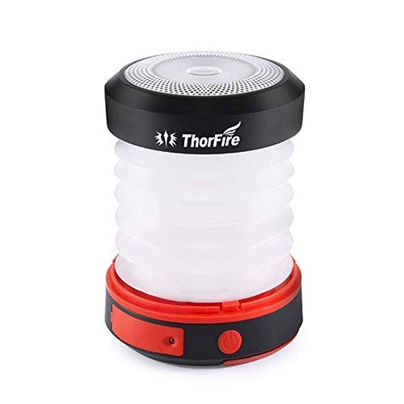 ダイエット抜け目がない腹痛LEDランタン ThorFire ソーラーライト USB充電式 電池不要 折り畳み式 モバイルバッテリー機能 軽量 アウトドア 夜釣り 防災対策 CL04