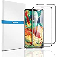 【2枚セット】【全面保護フィルム】Beyeah iPhone XR 6.1インチ 用 強化ガラス液晶全面保護フィルム iPhoneXR 旭硝子素材/硬度9H/高透過率/貼り付け簡単