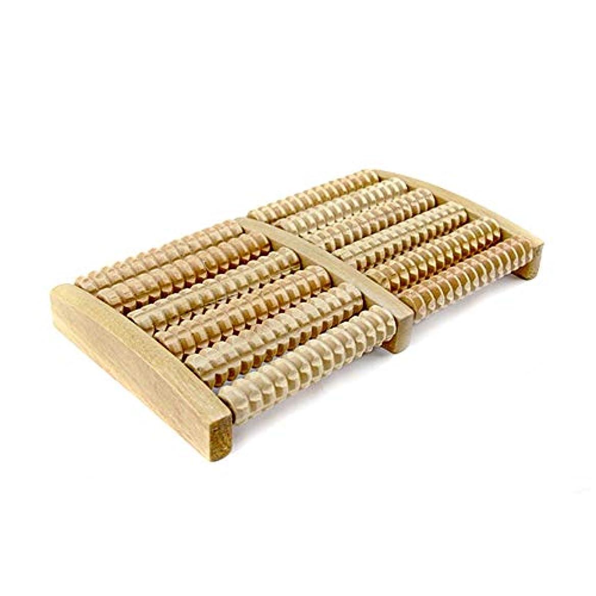 コロニアルくちばしほうき木製足マッサージ機 フットマッサージローラーの木製フットマッサージャーマニュアルフットマッサージャー六行 足裏マッサージローラー (Color : As picture, Size : 27x12.5x3.5)