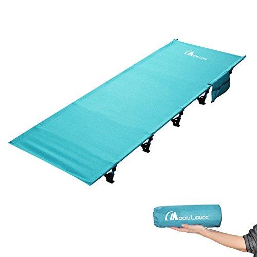 Moon Lence アウトドアベッド 折りたたみ キャンプコット 簡易 コンパクト 超軽量 防水 通気性 枕*収納ケース*キャリーバッグ付き 防水 通気性