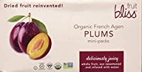 Fruit Bliss Organic オーガニック Dried Fruit, French Agen Plums, Mini Packs, 1.76 Ounce (Pack of 12)