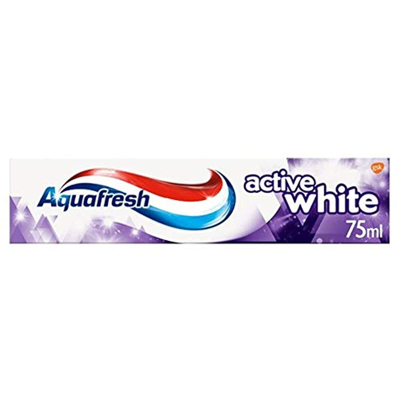 [Aquafresh ] アクアフレッシュアクティブ白歯磨き粉75ミリリットル - Aquafresh Active White Toothpaste 75Ml [並行輸入品]
