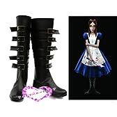 コスプレ靴♪アリス マッドネス リターンズ(Alice: Madness Returns)♪Aliceアリス コスプレ用ブーツ コスチューム