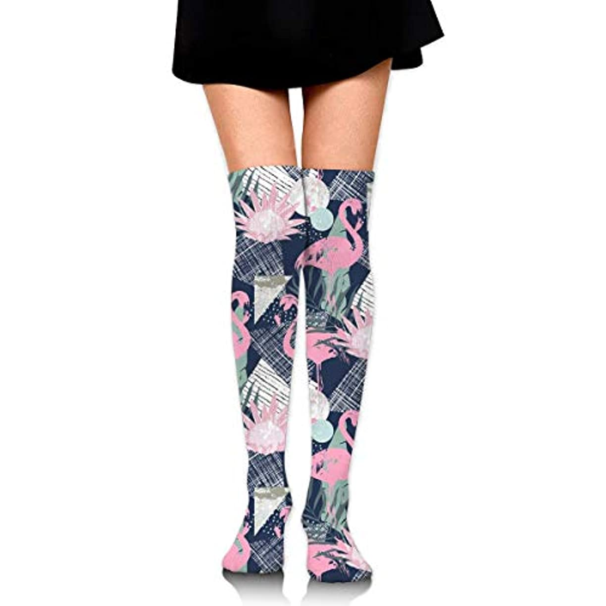 衝撃現代養うMKLOS 通気性 圧縮ソックス Breathable Thigh High Socks Over Exotic Psychedelic Print Compression High Tube Thigh Boot Stockings...