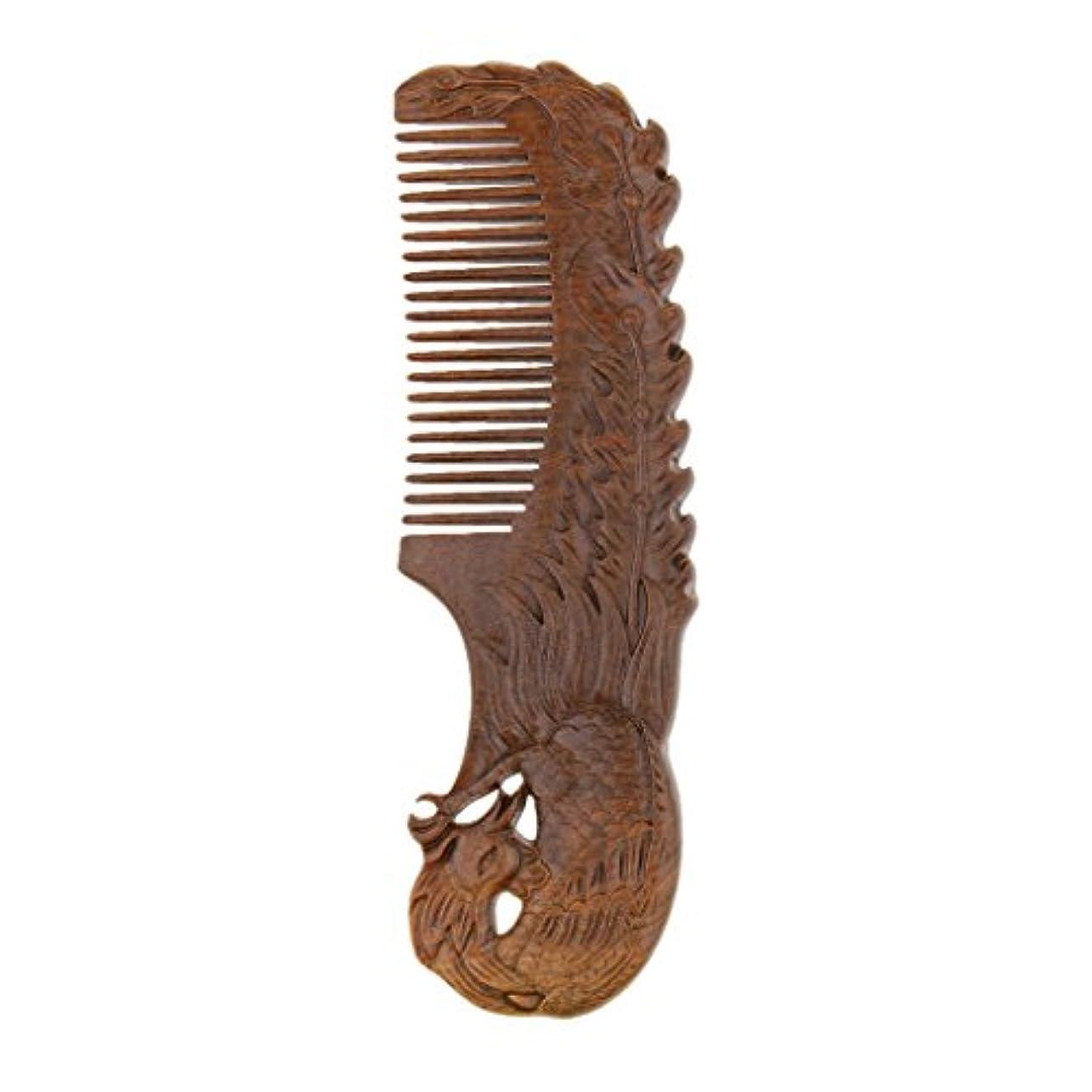 ウミウシアセお客様ウッドコーム ナチュラル サンダルウッド ワイド歯 ブラシ ヘアスタイリング デタングリングコーム 2タイプ - Phoenix