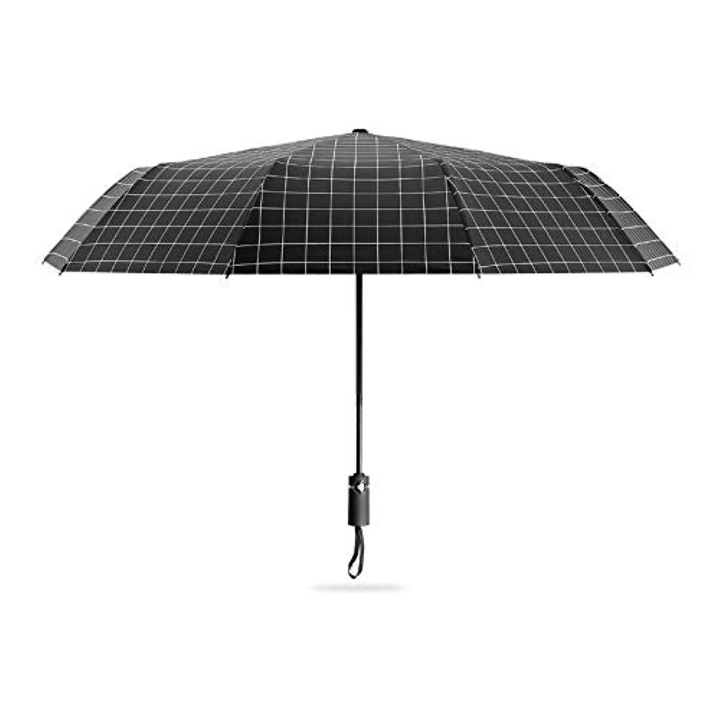 アニメーションメールを書く悲しむHAPPY HOME 男性と女性の折りたたみ雨と雨の二重使用大型三つ折り自動韓国の二重強化日傘のための10骨自動傘