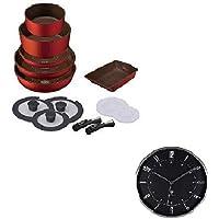 掛け時計付きセット (IH対応フライパン 13点セット+掛け時計)