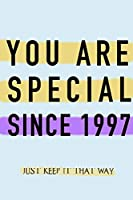 "NOTEBOOK ""YOU ARE SPECIAL SINCE 1997""  MATTE FINISH *HIGH QUALITY* 6x9 inches  120 pages"