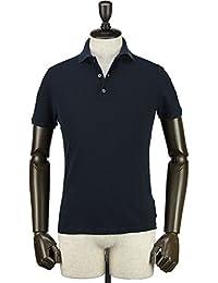 ZANONE ザノーネ メンズ アイスコットンピケ 鹿の子ポロシャツ POLO COSTE 812081 ZW370 Z0542 (ネイビー)