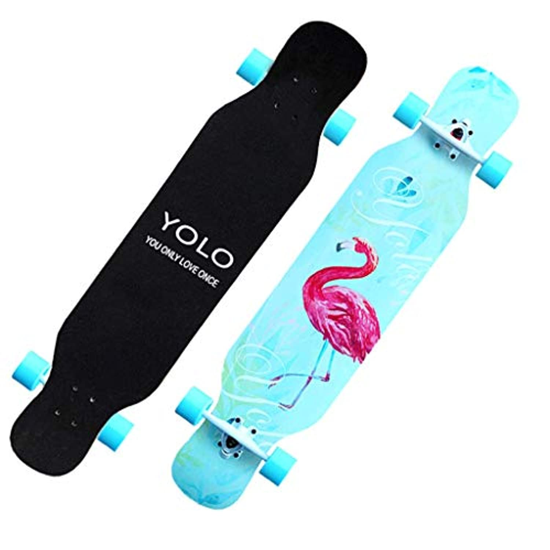 ロングボードスケートボード初心者と幼児プロフェッショナル四輪スクーター大人の男の子と女の子ロードブラシストリートトラベルダブルダンスボード ( Color : B )