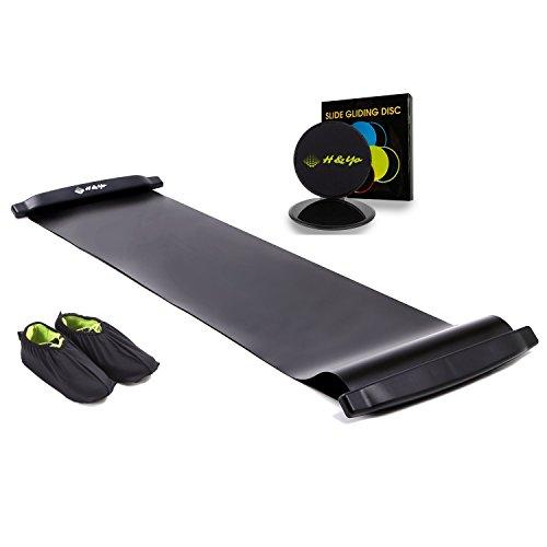 H&Yo スライドボード スライダーボード スライディングボード 万能スライドディスク付属 自宅で効率よく有酸素運動 180cm