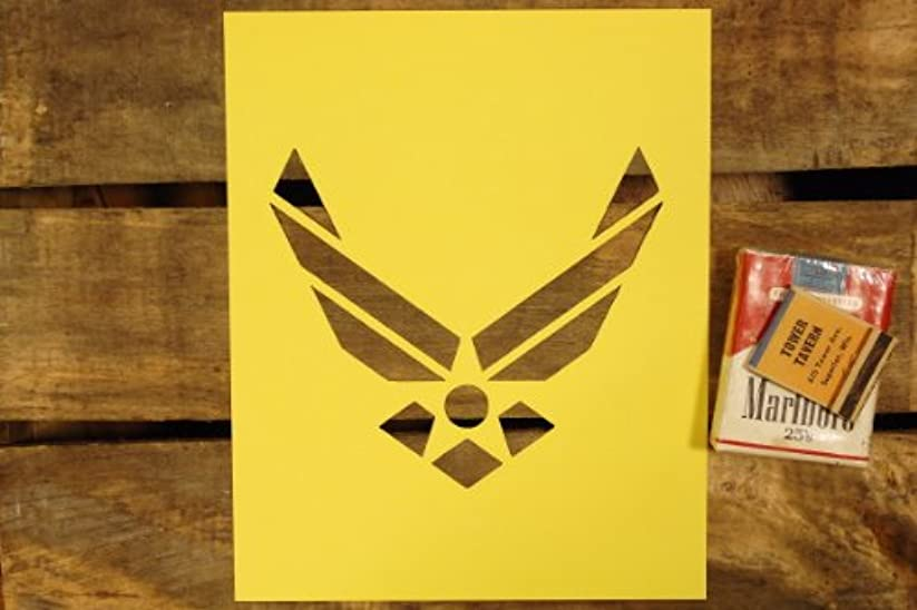 買い物に行く信じる病的【紙製 ステンシル シート】【6インチ】 USエアフォース 新ロゴ 空軍
