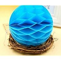 ychoiceかわいい赤ちゃんおもちゃHoneycomb Balls Tissue Paper pom-pomsペーパーボールfor掛け装飾ベビーシャワー誕生日装飾スカイブルー