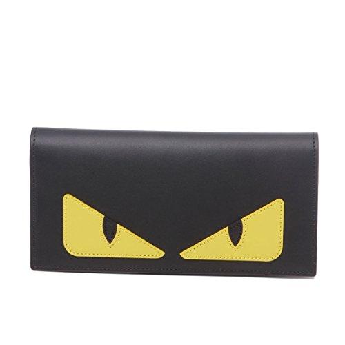 (フェンディ) FENDI 二つ折り長財布 BAG BUGS ブラック 7M0244 O73 F0U9T [並行輸入品]