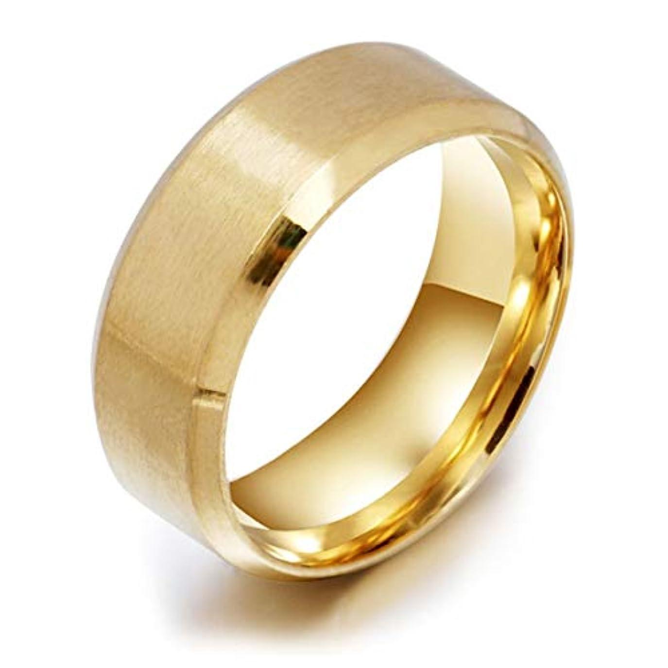 つまらない周りオセアニアステンレス鋼の医療指リング磁気減量リング男性のための高いポーランドのファッションジュエリー女性リング-ゴールド10