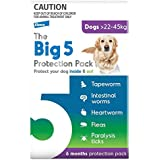 The Big 5 Protection Pack for Extra Large Dogs 22 to 45 Kg Purple 6 Chews