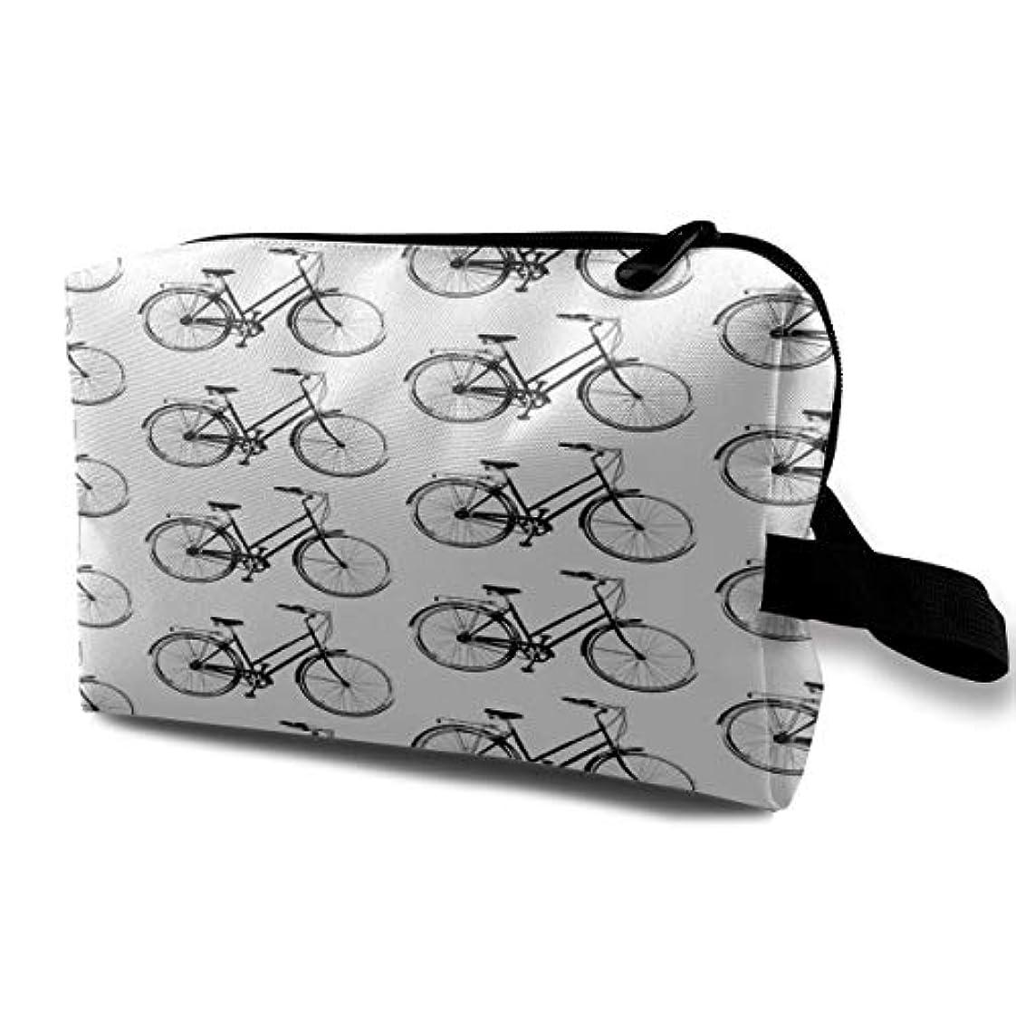 クラッシュ立ち向かう上がるAntique Bicycles 収納ポーチ 化粧ポーチ 大容量 軽量 耐久性 ハンドル付持ち運び便利。入れ 自宅?出張?旅行?アウトドア撮影などに対応。メンズ レディース トラベルグッズ
