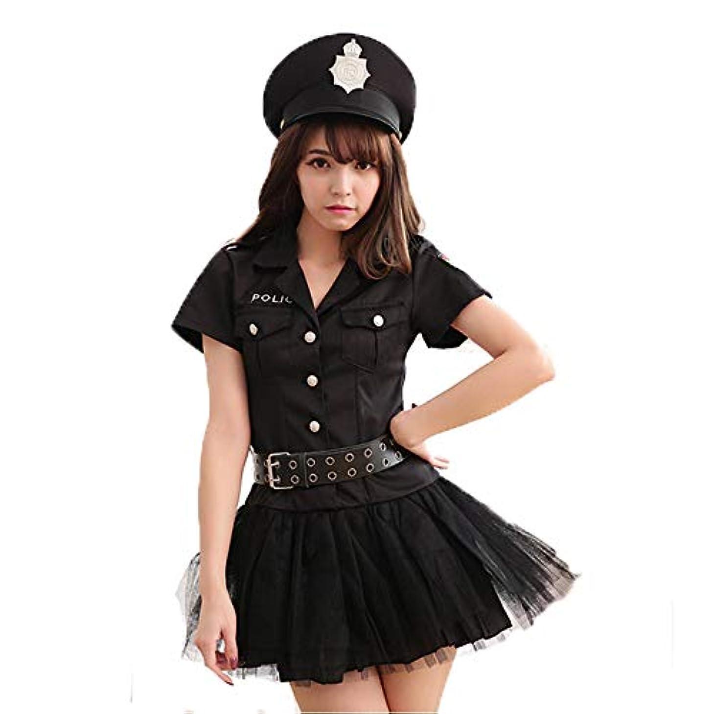 グラディス間違えたアヒルFruit Sugar コスプレ ハロウィン ポリス ミニスカ ミニ スカート ワンピース 警察官 婦人 警官 可愛い コスプレ衣装 コスチューム 黒 レディース 仮装