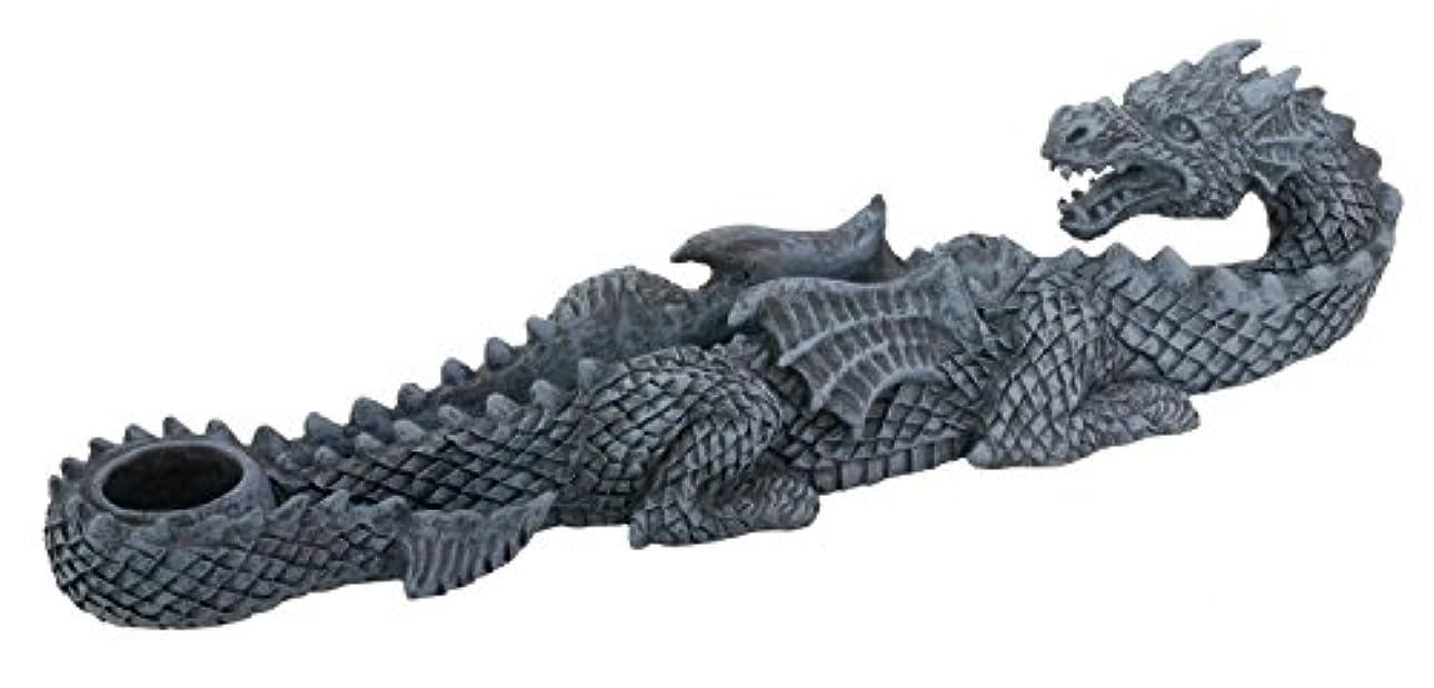 回答堂々たる建設Dragon Incense Holder Collectible Scent Aroma Burner Sculpture