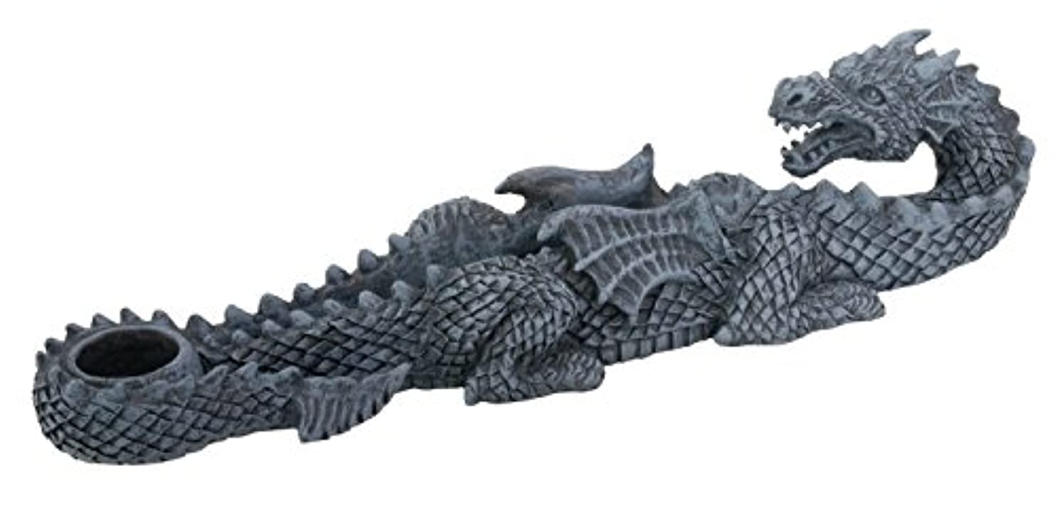テレックス机土砂降りDragon Incense Holder Collectible Scent Aroma Burner Sculpture
