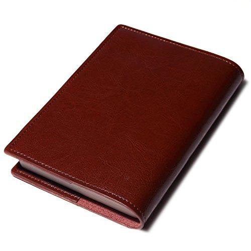 seyococogi ブックカバー 本革 A6サイズ 文庫本サイズ (キャメルブラウン)