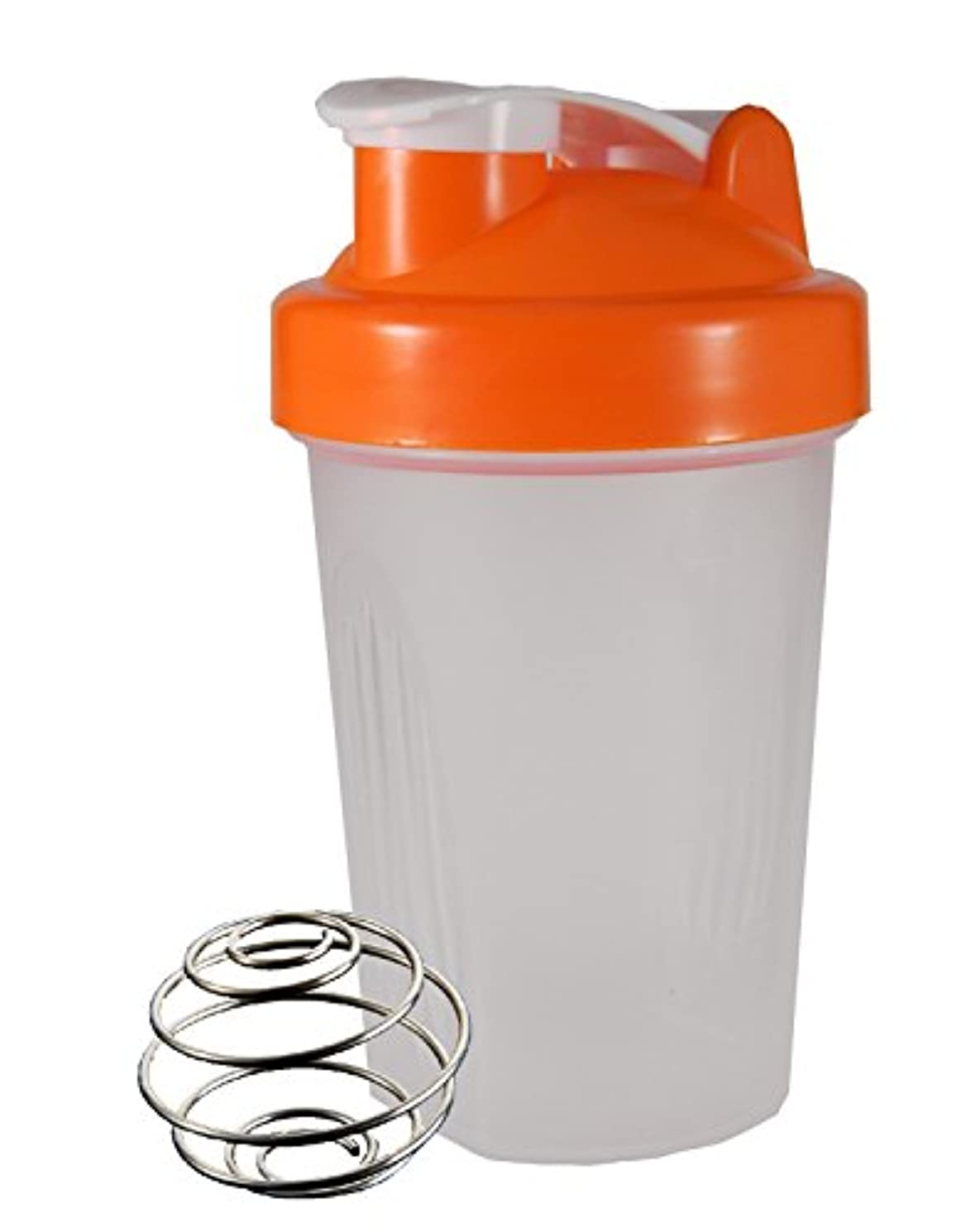ラグちょうつがい熱心なノーブランド シェーカーボトル 400ml (オレンジ)