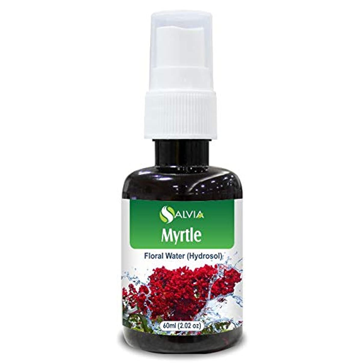 プレビュータイル飢饉Myrtle Floral Water 60ml (Hydrosol) 100% Pure And Natural