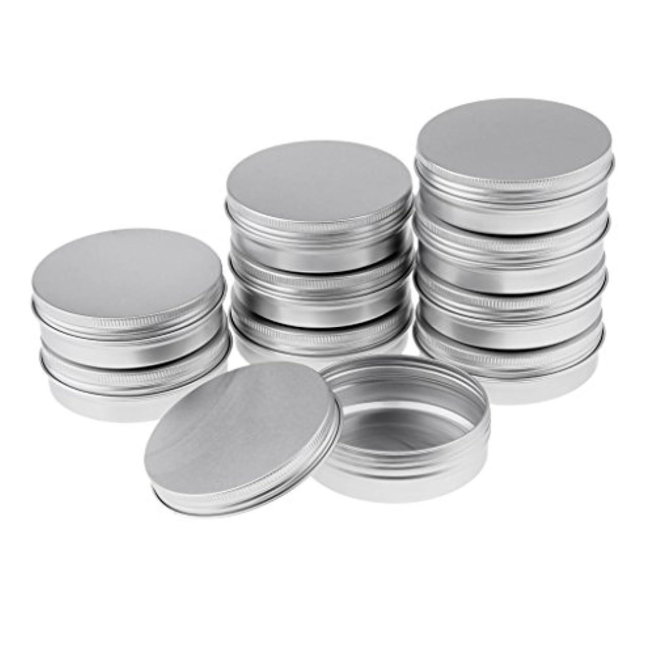 成功したマージかけがえのないBlesiya 10個 アルミ容器 空缶 ジャー スクリュー蓋付き 収納箱 3サイズ選べる - 8.2x2.7 cm