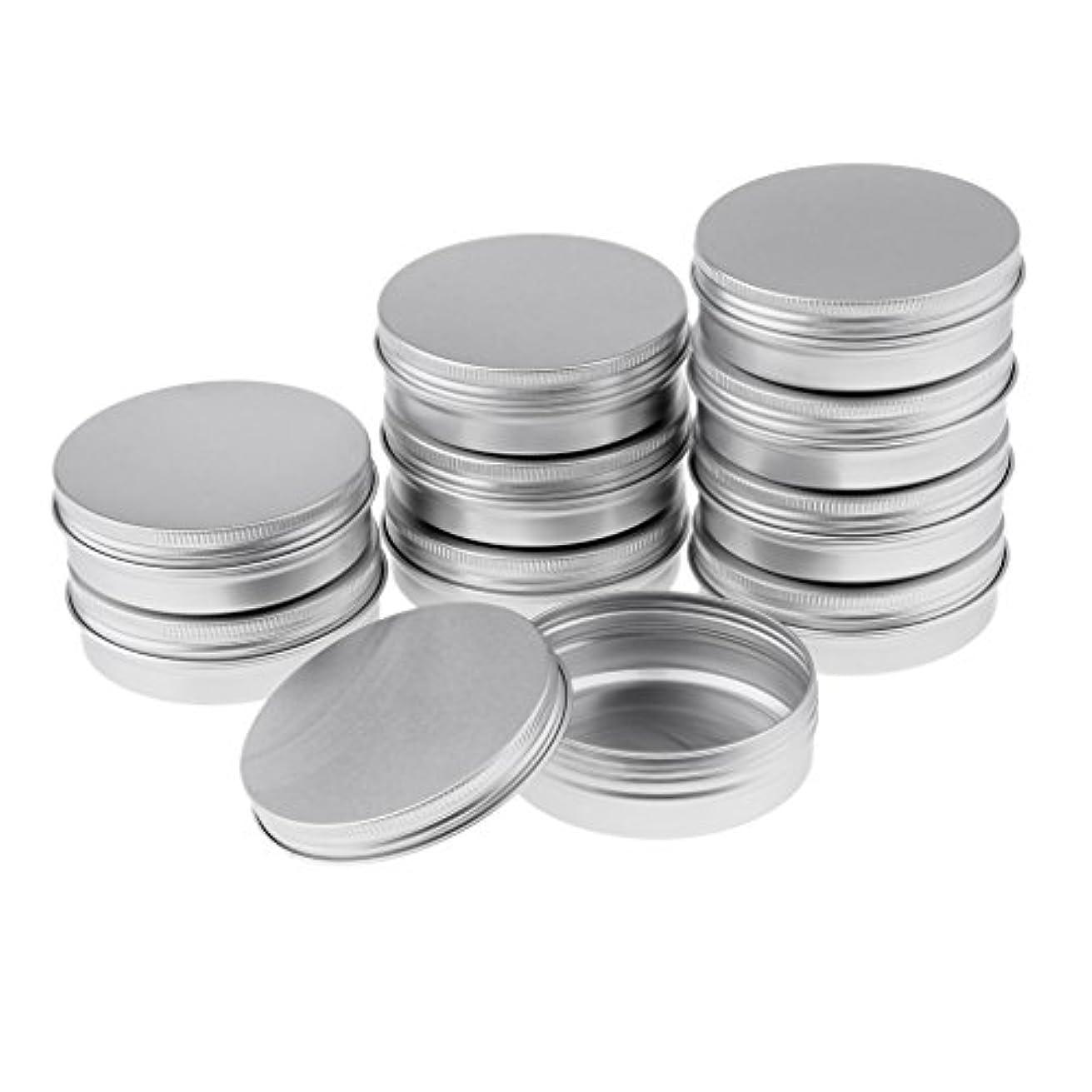 馬鹿げた器用じゃないHomyl 10個 空缶 ジャー スクリュー蓋付き アルミ ラウンド 詰替え容器 コスメ DIY 3サイズ選べる - 8.2x2.7 cm