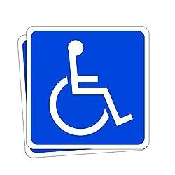 身障者用設備(車イス) 高耐候性マグネットステッカー 反射タイプ 国際シンボルマーク 100X100mm 2枚組