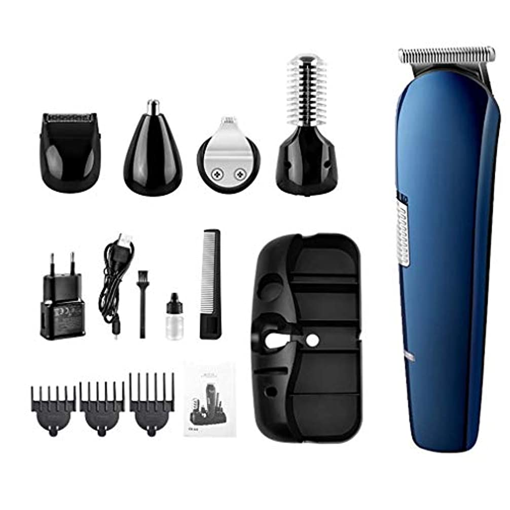 メロドラマティック申込みサーマル1で男性コードレス口ひげトリマーヘアートリマープレシジョントリマー鼻毛トリマー防水USB充電式5のためのビアードトリマー