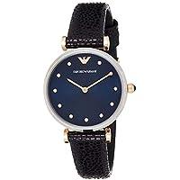Emporio Armani Women's AR1989 Gianni T-Bar Analog Quartz Blue Watch