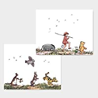 (Set of 2) Classic Winnie the Pooh Nursery Prints (Baby Wall Art Boy Girl Room Decor) Animal Parade - 8x10 Unframed [並行輸入品]