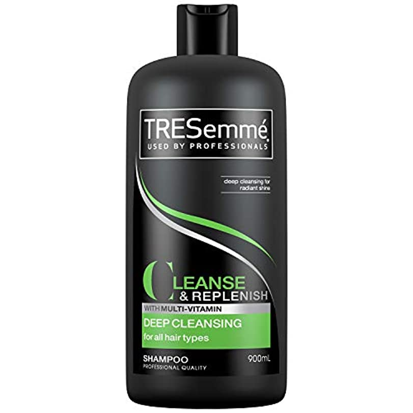 破裂曇ったリングTresemme Deep Cleansing Shampoo 900 ml