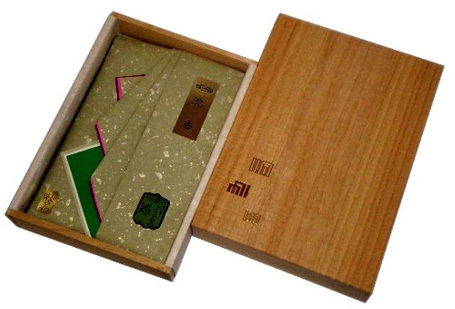 放棄されたオフセットレザー玉初堂のお香 極品沈香30g タトウ紙包み 桐箱仕立 #485