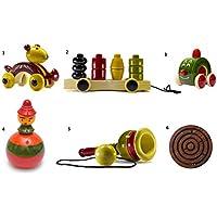 6ピース木製プッシュプル赤ちゃんおもちゃ&スキルToys Set :モデルows-gl001