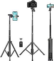 Selfie Stick Tripod, Tobeape 54'' Extendable Selfie Stick with Phone Tripod Stand & Wireless Remot