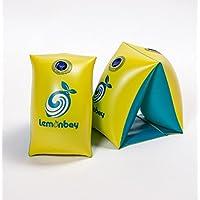 アームリング 大人(100kg以下)子供用アーム浮き輪 (浮輪) インフレータブルアームバンド 腕輪 アームヘルパー 高品質 PVC 高安全性 2個セット 水泳用品