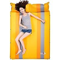屋外テント寝パッド自動膨張クッションマットレスポータブル湿気パッドキャンプマット (色 : Orange)