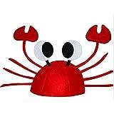 Miss。AJカニハット – 赤で陽気なカニの帽子パーティーコスチューム