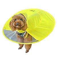 犬用レインコート 雨の日 犬服 ポンチョ 雨具 ペット服 お出かけ 防水 防風 防塵 汚れ防止 快適 小型犬 中型犬 犬用品 多サイズ 可愛い おしゃれ 雨天対策 雨散歩 軽量 通気 きいろ S