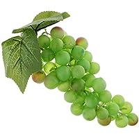 Sharplace 現実的 果物 人工葡萄 部屋 掛け 装飾品 ディスプレイ 人工葡萄 多種選べる  - グリーン-60ブドウ