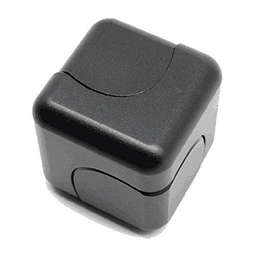 Vicstar Hand spinner Fidget Spinner ハンドスピナー スピン ウィジェット ブロックタイプ 立方体 重量感 フォーカス玩具 EDC玩具 デスク玩具 ストレス解消 時間をつぶす 超耐久性 高速 電子 亜鉛合金 安全性高い ブラック